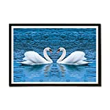 ezyPRNT Swan couples Framed Poster (Size...