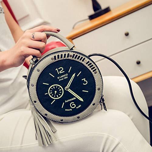 Einzigartiges Design-runde Uhr-Form-vorzügliche Umhängetasche Crossbody-Beutel-Handtaschen-Handy-Tasche zufällige Freizeit für die Datierung täglich