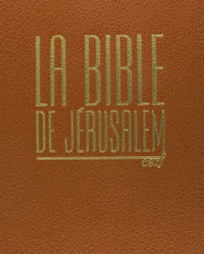 Bible de Jérusalem. (major cuir havane)
