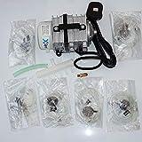 B-Creative Pompe à compresseur d'air pour Aquarium AC à Piston hydroponique 60 L et Accessoires