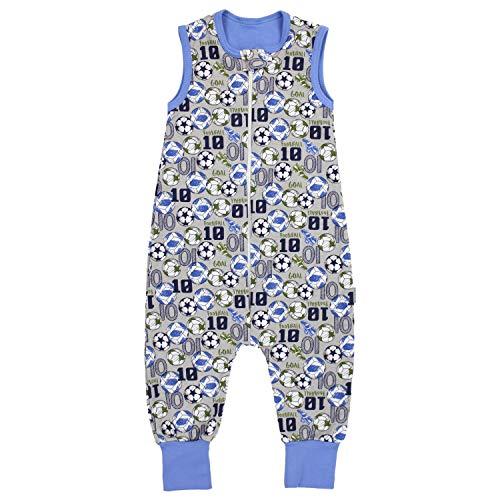 TupTam Unisex Babyschlafsack mit Beinen Unwattiert, Farbe: Bälle/Grau Meliert, Größe: 92-98