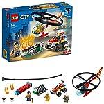 LEGO City RapinasulMonsterTruck con Furgone, Motocicletta e Mattone Magnetico, Set da Costruzione, 60245  LEGO