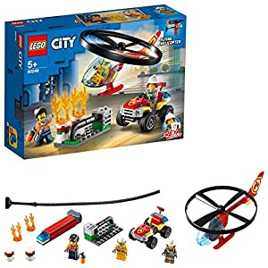 LEGO City Fire Elicottero dei Pompieri, Set di Costruzioni con Minifigure: Operaio, Pompiere, Freya Mccloud, con… 5702016617825 LEGO