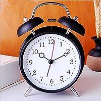 GHKLGY 4-inch metall wecker elektronische uhr alarm wunderschöne kreative wecker schüler uhr , schwarz preisvergleich bei billige-tabletten.eu