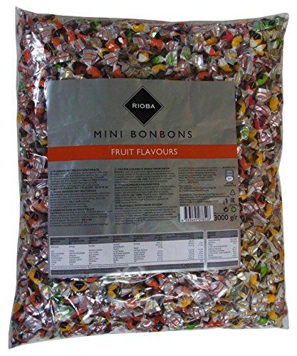 Mini Bonbons als Wurfmaterial, für Kindergeburtstag und Büro, 1er Pack (1 x 3kg) Mini-bonbons