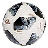 adidas Unisex World Cup Top Glider–Balón de fútbol, primavera/verano, color White/Black/Silver...