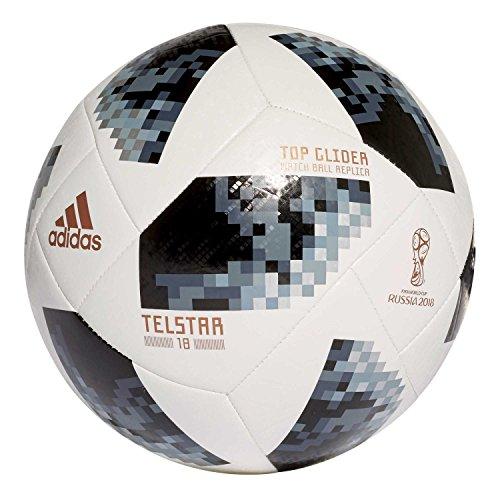 Adidas unisexe World Cup Top Glider Football 5 White/Black/Silver Metallic
