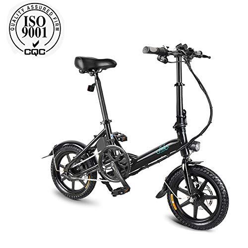 FIIDO D3 Bicicleta eléctrica plegable para adultos, bicicleta eléctrica, scooter eléctrico de 14 pulgadas con faro de LED, bicicleta eléctrica...