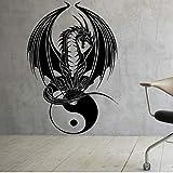 Mhdxmp Accueil Décoration Papier Peint Viny Amovible Autocollant Dragon Chinois Yin Yang Ordinateur Portable Vinyle Decal 57 * 84Cm
