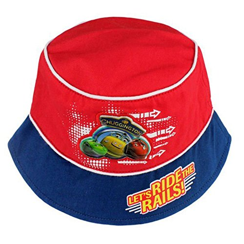 Image of Official Licensed Boys Kids Red Chuggington Summer Bucket Hat Age 1-2 Years