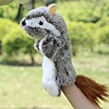 #7: Plush Toys Fur Hand Puppet Baby Story Telling - Educational Aid - (Squirrel)