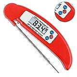 Medidor Digital de Temperatura de Acero Inoxidable 304, Termómetro para la Cocción, Leer en 4 Segundos al Instante, Los Alimentos, BBQ, Los Carne (Rej