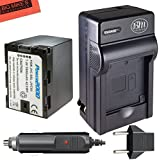 1 Battery + Battery Charger : Replacement SSL-JVC50 Battery and Battery Charger for JVC GY-HMQ10, GY-HM200, GY-LS300, GY-HM600, and GY-HM650 Broadcast Camcorders