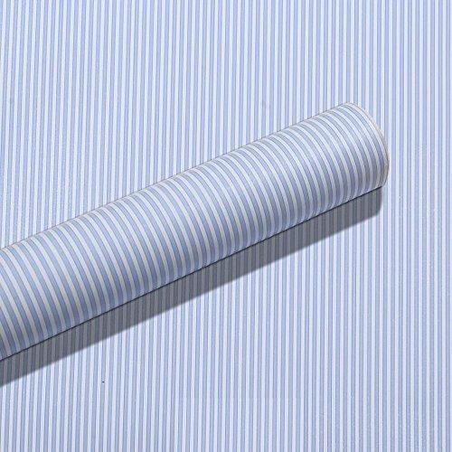 lovefaye blau weiß Streifen Regalen Schublade Einheiten Decor Aufkleber selbstklebend Kontakt Papier 45cm durch 9.8Füße (Wand-einheit Stück 2)
