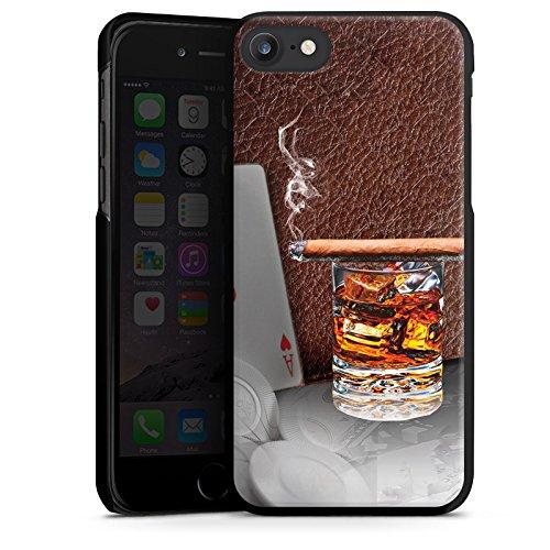 Apple iPhone X Silikon Hülle Case Schutzhülle Zigarre Whiskey Karten Hard Case schwarz