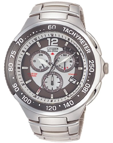 Citizen - AS4006-53A - Montre Homme - Quartz chronographe - Bracelet en titane