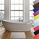 MSV Badteppich Badvorleger Duschvorleger Kieselstein Badematte waschbar, schnelltrocknend, rutschfest 40x60 cm - Beige