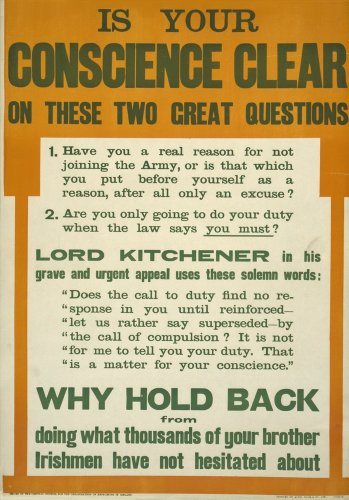 vintage-irlandese-ww11914-18propaganda-lord-kitchener-asks-is-your-conscience-clear-250gsm-lucido-ar