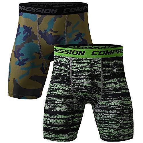 FZmix Men's Compression Skinny Shorts Running Sport Pants Gym Fits Bodybuilding -