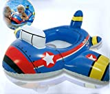 #10: Jet Plane Engine Shape Kiddie Float Swimming Ring, Inflatable Swim Pool Seat Toddler Water Float Ring Tube Boat for Kids Ages 1-2 Years - 35
