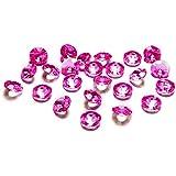 Kristall-Diamanten, 1,2cm, 100 Stück, dark pink