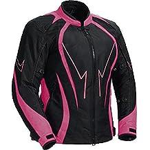 Juicy Trendz chaqueta de la motocicleta jugosa Trendz de cuero resistente al agua la mujer del agua blindado Cordura textiles motocicleta