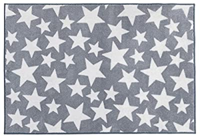 Kit for Kids Nursery Rug, Grey with White Stars - inexpensive UK rug store.