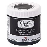 Rayher 38867574 Chalky Finish auf Wasser-Basis, Kreide-Farbe für Shabby-Chic-, Vintage- und Landhaus-Stil-Looks, 118 ml, Ebenholz