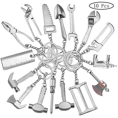 Keying-tool (Snner 10pcs Unisex Schlüsselanhänger Aus Metall Mehrere Funktionsschlüsselanhänger Haushalts Werkzeuge Muster Schlüsselanhänger Auto Schlüsselanhänger Geschäfts-Geschenk Für Frauen-Mann)