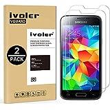 [2 Pack] Samsung Galaxy S5 Mini Protector de Pantalla, iVoler Protector de Pantalla de Vidrio Templado Cristal Protector para Samsung Galaxy S5 Mini -Dureza de Grado 9H, Espesor 0,30 mm, 2.5D Round Edge-[Ultra-trasparente] [Anti-golpe] [Ajuste Perfecto] [No hay Burbujas]- Garantía Incondicional de 18 Meses