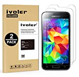 [Lot de 2] Samsung Galaxy S5 Mini Protection écran, iVoler Film Protection d'écran en Verre Trempé Glass Screen Protector Vitre Tempered pour Samsung Galaxy S5 Mini - Dureté 9H, Ultra-mince 0.30 mm, 2.5D Bords Arrondis- Anti-rayure, Anti-traces de Doigts,Haute-réponse, Haute transparence- Garantie de Remplacement de 18 Mois