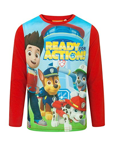Action Boy's Longsleeved T-Shirt (6 Years) (Paw Patrol-feuer-hund)