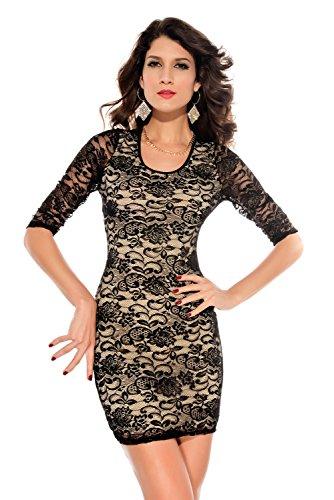 E-Girl femme Noir SY2753 robe de cocktail Noir
