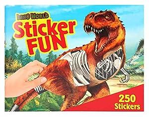 Depesche 3359Libro para Colorear Pegatina Fun, Dino World, Multicolor