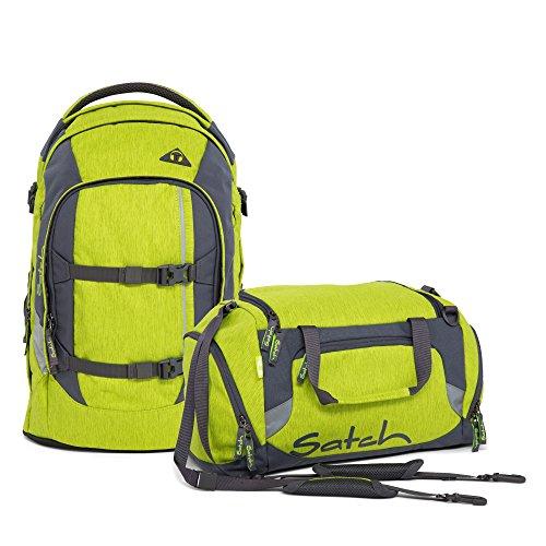 Preisvergleich Produktbild Satch Pack Ginger Lime 2-tlg. Set Schulrucksack + Sporttasche