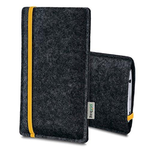 Stilbag Filztasche 'LEON' für Apple iPhone 4/4S - Farbe: blau-anthrazit gelb