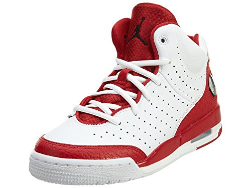 Nike Boy's Air Jordan Flight Tradition Basketball Shoe White/Black-Gym Red, 11 M US Little Kid (Flight Nike Air Jordan)