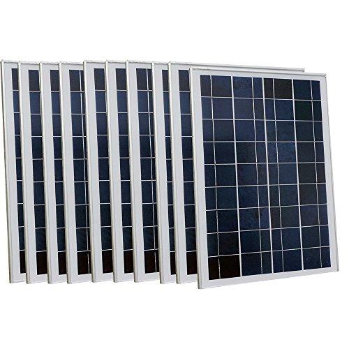 ECOWORTHY 250W 10PCS 25W 12V Solar Panel 25W Watt Solar Module for Home Caravan Outdoor Camping Boat (10-appliance-modul X)