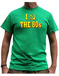 Nutees I Love 80's Fancy Dress Costume Party Funny Mens T Shirt - Irish Green