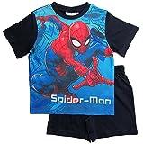 Spiderman Pyjama Kollektion 2018 Shortie 98 104 110 116 122 128 Shorty Kurz Jungen Sommer Schlafanzug Marvel Ultimate Amazing (Blau, 104)