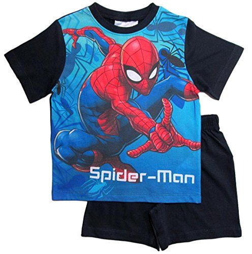 Spiderman Pyjama Kollektion 2018 Shortie 98 104 110 116 122 128 Shorty Kurz Jungen Sommer Schlafanzug Marvel Ultimate Amazing (Blau, 98)