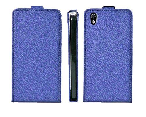 caseroxx Handyhülle mit Flip-Cover für Medion Life X5020 MD 99462, Schutzhülle für das Smartphone Flipcase (Handytasche klappbar in blau)