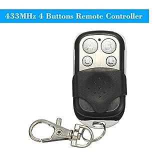 OWSOO 433 MHz 4 Tasten Kopieren Klonen Duplizierer Fernbedienung Sender Schalter für Garage Öffner Elektrischen Garagentor Fernbedienung Schlüsselanhänger