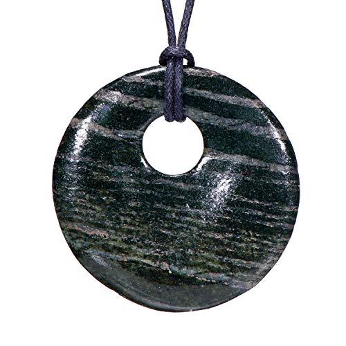 Morella collane da donna 80 cm con pendenti di pietre preziose a forma di ciambella diaspro in sacchetto di velluto