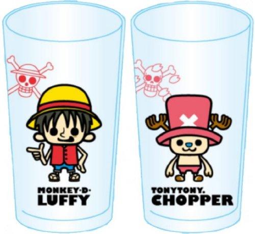 One piece x Pansonwakusu 2P glass Luffy & Chopper (japan import)