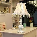 HRMAOI®,Harz, im europäischen Stil Retro-Lampe, US-amerikanischer Country-Lampen, Nacht Schlafzimmer, Arbeitszimmer, Wohnzimmer Lampe, A-550 * 330mm