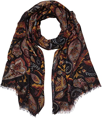 PIECES Damen Schal Pcjahana Long Scarf, Mehrfarbig (Black), One Size