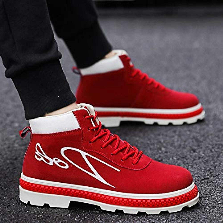 Le calzature sportive Feifei Scarpe da Uomo High-Top Scarpe Scarpe Scarpe Trend Wild Casual stivali (Nero, Marronee, Rosso) (Coloreee... | Forma elegante  935933