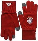 adidas Herren Handschuhe FC Bayern Gloves, fcb true red/medium grey heather/white, M, AA0758