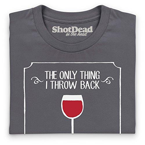 Throwback Thursday Wine T-Shirt, Damen Anthrazit